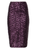 Tall Purple Sequin Pencil Tube Skirt | New Look