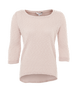 Shell Pink Boucle Dip Hem 3/4 Sleeve Top | New Look