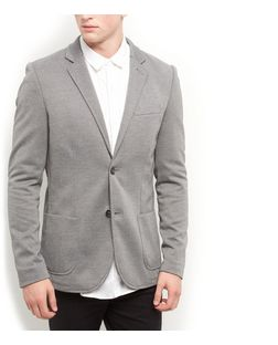 Grey Ponti Blazer | New Look