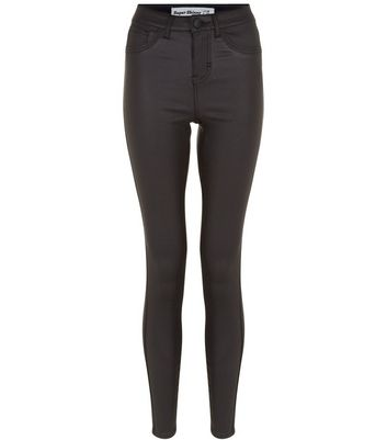 Black Coated Super Skinny Jeans