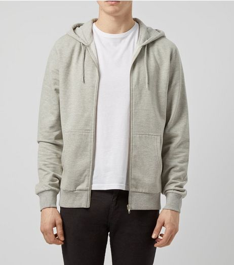 Grey Zip Up Hoodie | New Look