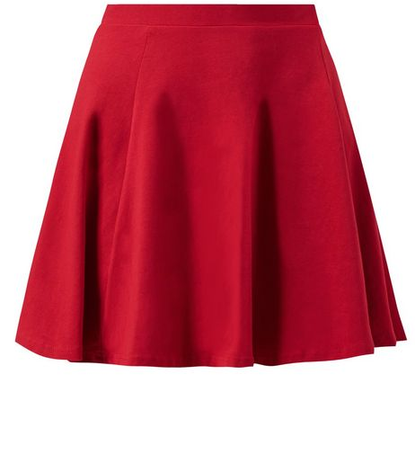 Red Skater Mini Skirt | New Look