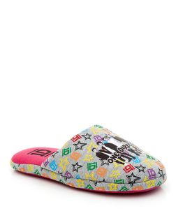 Teens Grey One Direction Mule Slippers  | New Look