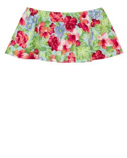 Parisian Green Floral Print Frill Crop Top | New Look