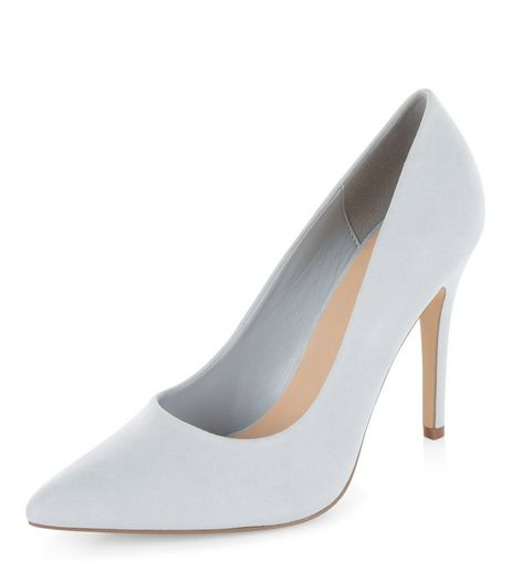 Light Blue Pointed Court Shoes  | New Look
