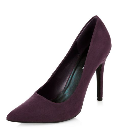Purple Pointed Court Shoes  | New Look
