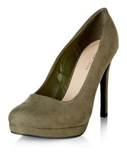 Khaki Platform Court Shoes  | New Look