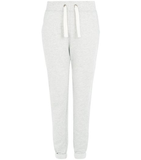 Tall Grey Plain Jersey Joggers  | New Look