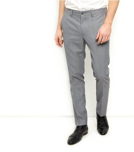 Grey Slim Fit Suit Trousers | New Look