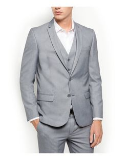 Grey Slim Fit Suit Jacket  | New Look