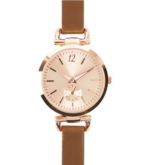 Brown D-Ring Strap Watch | New Look