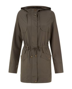 Khaki Lightweight Hooded Parka  | New Look