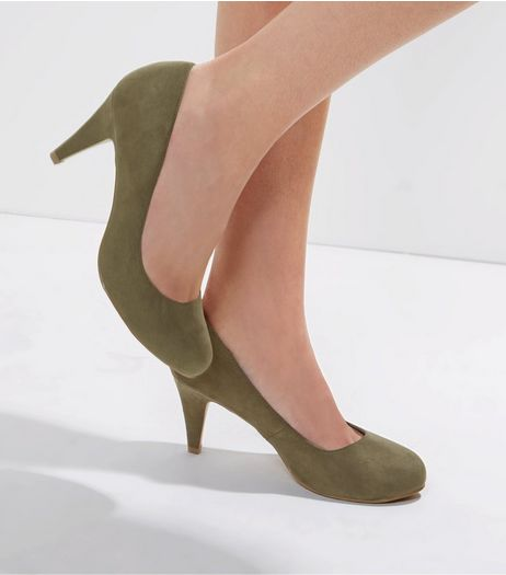 Wide Fit Khaki Court Shoes | New Look