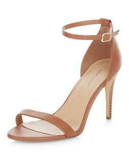 Tan Ankle Strap Heels  | New Look