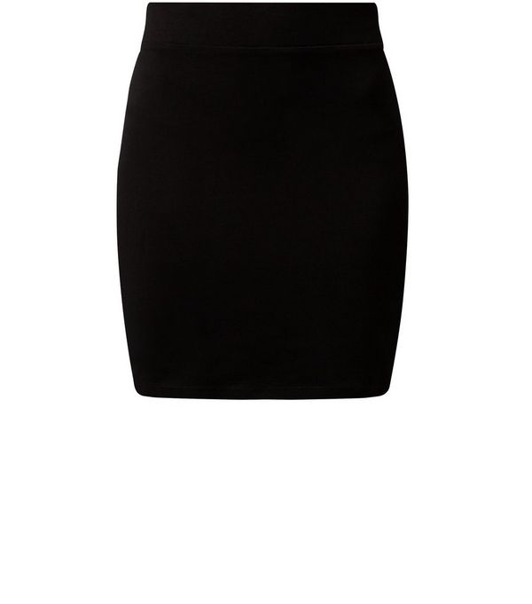 Black High Waisted Tube Skirt