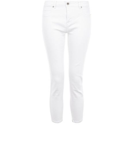 White Skinny Cropped Jeans  | New Look