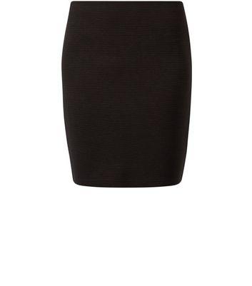 Gonna  donna Black Ribbed Mini Skirt