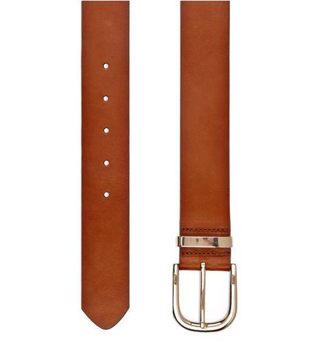 Tan Premium Leather Jeans Belt  | New Look