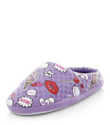 teens-lilac-pop-art-slippers