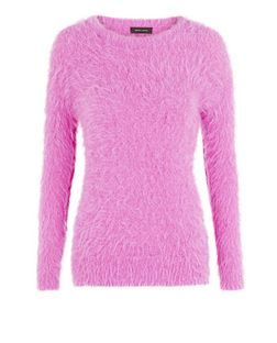 Pink Fluffy Jumper  | New Look
