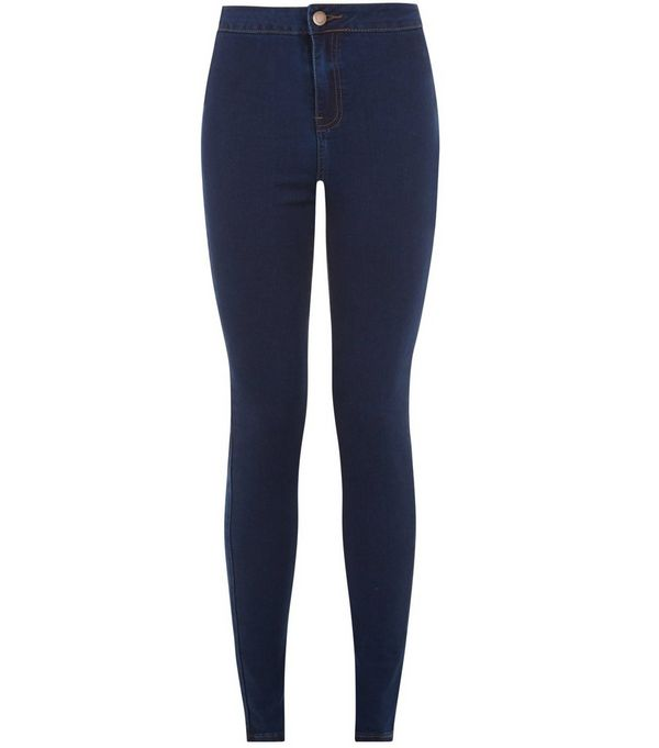 Navy High Waist Super Skinny Jeans
