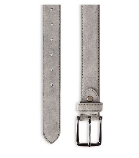 Grey Suedette Belt  | New Look