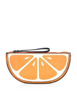 Orange Fruit Clutch  | New Look