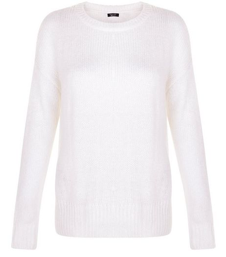 White Boxy Jumper | New Look