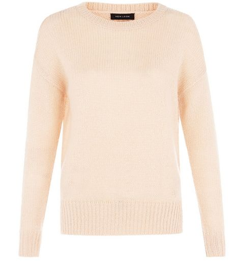 Shell Pink Boxy Jumper | New Look