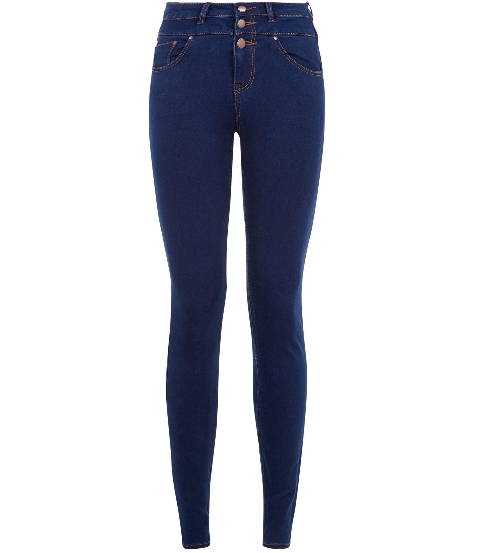 shoptagr dark blue high waist super skinny jeans by new look. Black Bedroom Furniture Sets. Home Design Ideas
