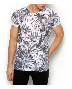 White Jungle Print T-Shirt  | New Look