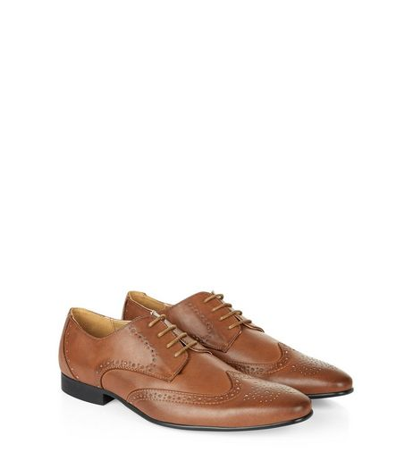 Brown Lace Up Charlie Brogues  | New Look