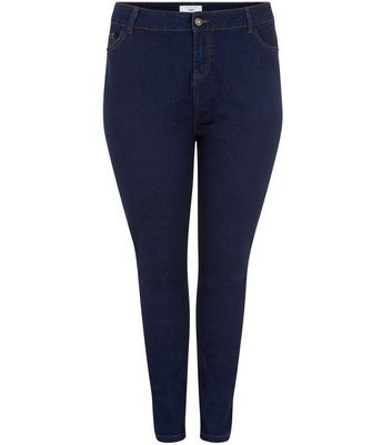 Curves Navy Skinny Jeans