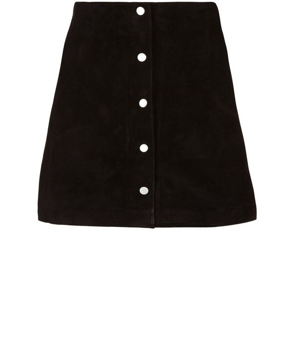 Black suede a line skirt – Cool novelties of fashion 2017 photo blog