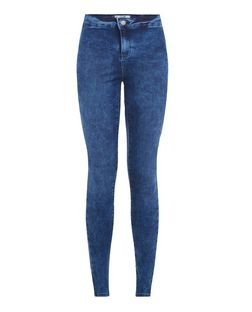 Blue High Waisted Super Skinny Jeans  | New Look