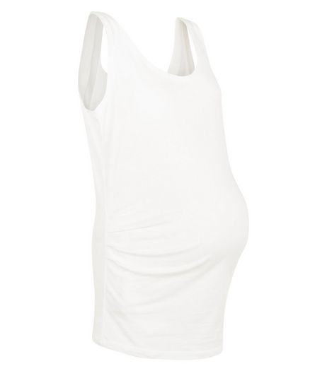 Maternity White Vest  | New Look