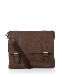 Brown Leather-Look Satchel | New Look