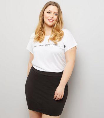 Curves Black Tube Skirt