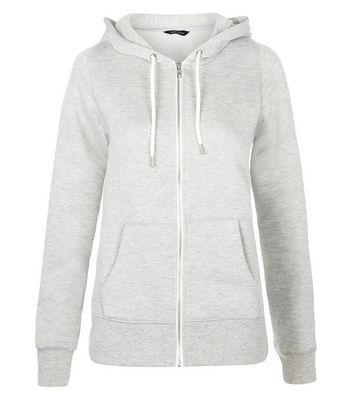 Grey Basic Zip Up Hoodie