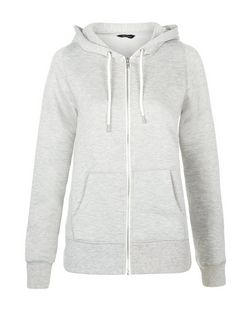 Grey Basic Zip Up Hoodie | New Look