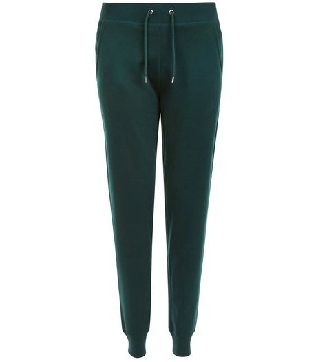 Dark Green Slim Leg Joggers  | New Look