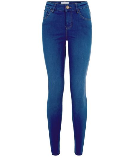 Petite 28in Bright Blue Supersoft Super Skinny Jeans  | New Look