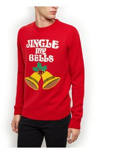 Red Jingle My Bells Christmas Jumper  | New Look