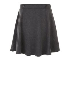 Grey Tab Side Skater Skirt  | New Look