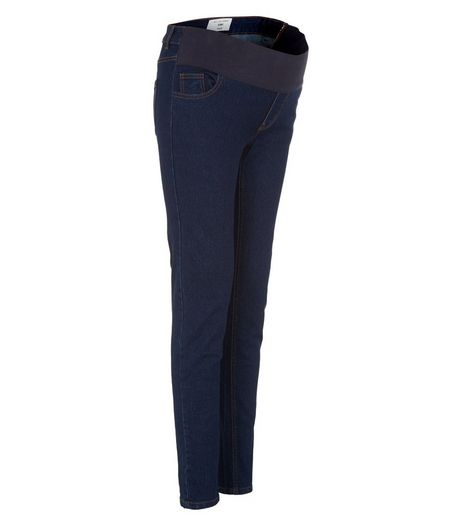 Matenity Blue Under Bump Skinny Jeans | New Look