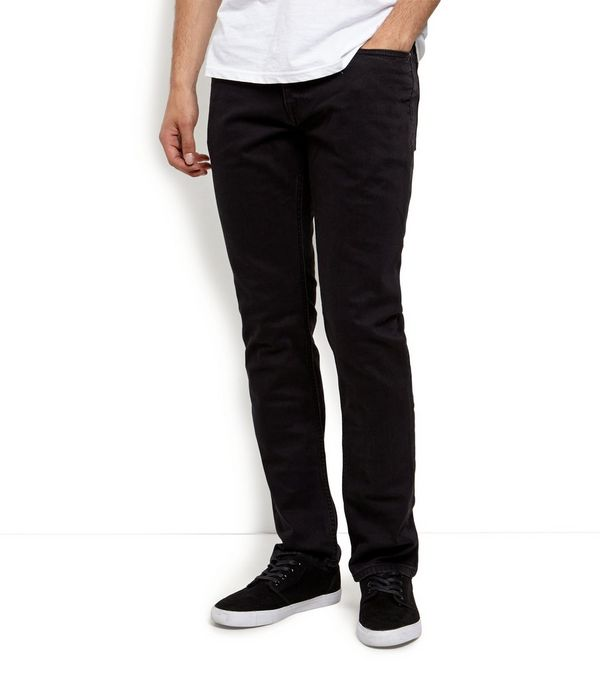 Mens Black Slim Fit Jeans - Jon Jean