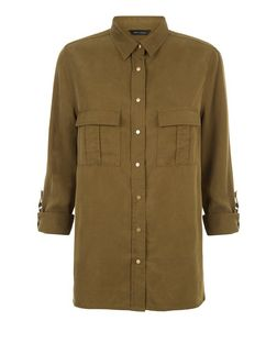 Khaki Utility Shirt  | New Look