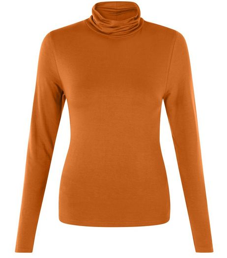 Tan Turtle Neck Long Sleeve Top  | New Look