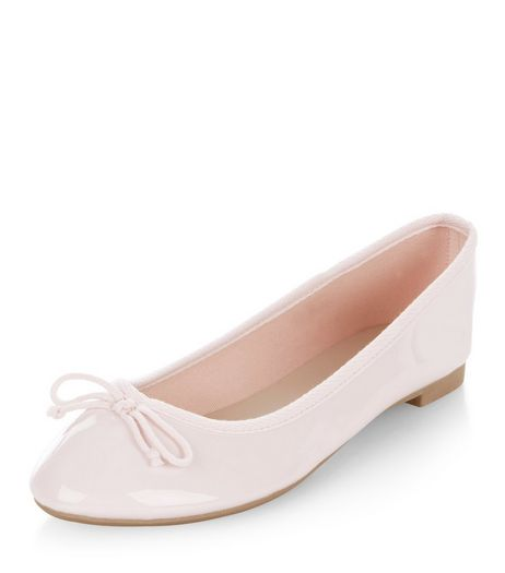 Pink Patent Ballet Pumps | New Look