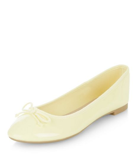 Yellow Patent Ballet Pumps | New Look